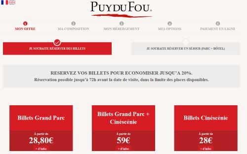 Calendrier Puy Du Fou 2020.Reservation Puy Du Fou 2019 Billets Cinescenie Tarifs Promos