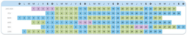 calendrier billets disneyland 2020