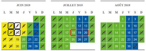calendrier puy du fou 2019