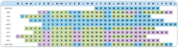 calendrier validite billets disneyland 2020